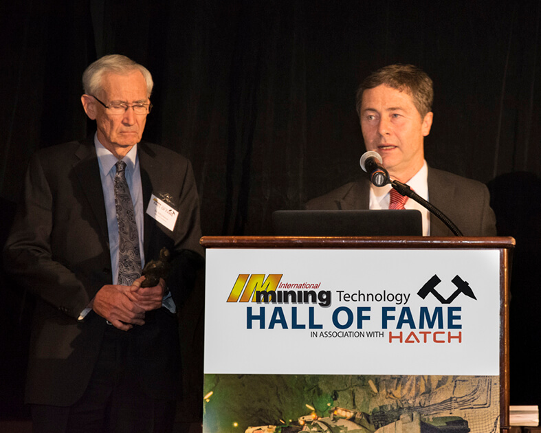 Joe Pease Hall of Fame supplied by International Mining 2017
